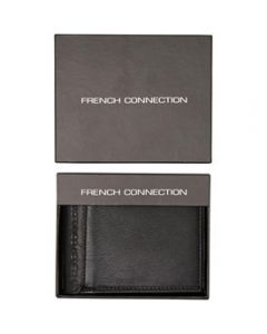 French Connection Stitch Wallet - Black