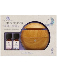 USB Diffuser with 2x 10ml Essential Oils