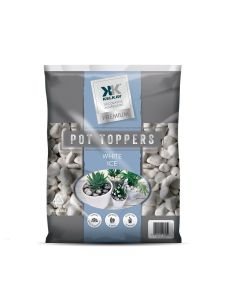 Pot Toppers - White Ice