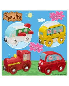 Peppa Pig Wooden Mini Vehicles