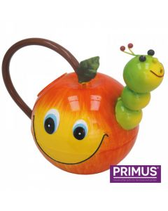 Children's Apple with Worm Metal Watering Can
