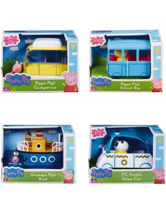Peppa Pig Vehicles - Four Assorted