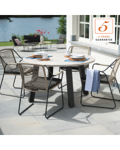 4 Seasons Scandic Round 4 Seat Dining Set