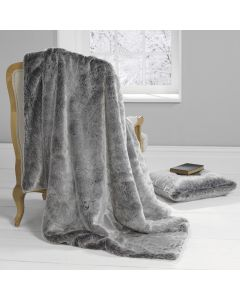 Silver Wolf Throw