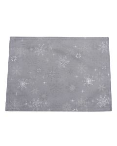 Snow Crystal Grey Placemat