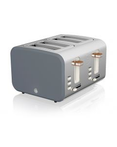 Swan - Nordic 4 Slice Toaster 1500W - Grey