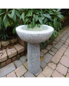 Basic Round Bird Bath - Grey Granite