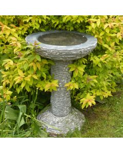 Black Marble Bird Bath