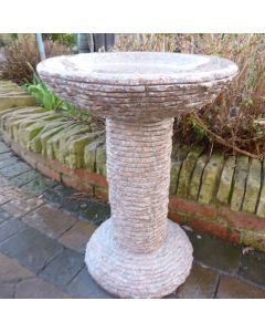 Cascade Bird Bath - Pinky Granite