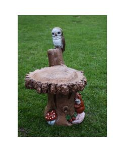 Single Owl Bird Bath