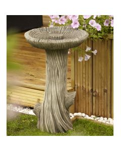 Log Bird Bath
