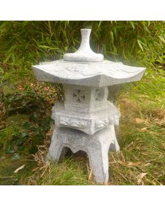 Rokkaku-Yukimi Lantern Large - Grey Granite