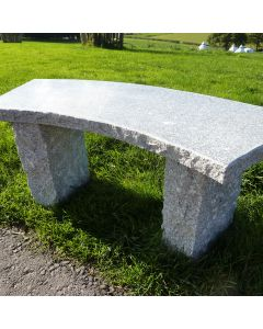 Curved Bench (6cm Top) - Grey Granite