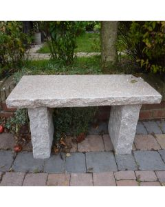 Rustic Straight Bench - Pinky Granite