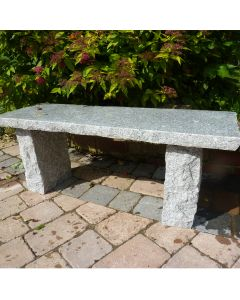 Rustic Straight Bench - Grey