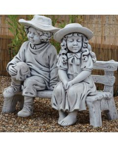 Town Boy & Girl on Bench