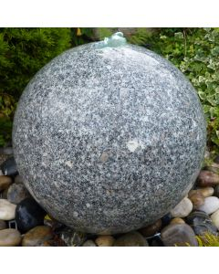 Polished Drilled Granite Sphere - with pump kit