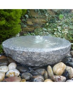 Babbling Bowl Fountain Grey Granite