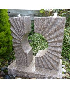 Pinky Granite Eclipse Sun Fountain - with pump kit