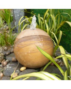 Drilled Sphere 60cm Dia - Rainbow Sandstone