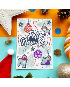 Feliz Navi-dog - Edible Greeting Card