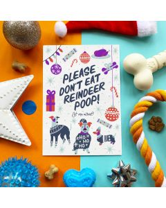 Don't Eat Reindeer Poop - Edible Greeting Card