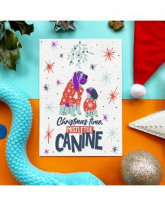 Mistletoe Canine - Edible Greeting Card