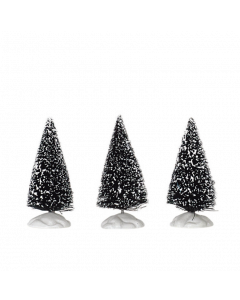 Lemax Bristle Tree Set of 3