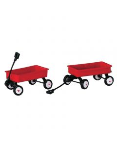 Red Wagons, Set of 2
