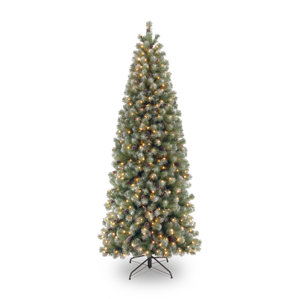 Fire Retardant Spray For Christmas Trees Part - 22: Pre-lit Lakeland Spruce Slim Christmas Tree .